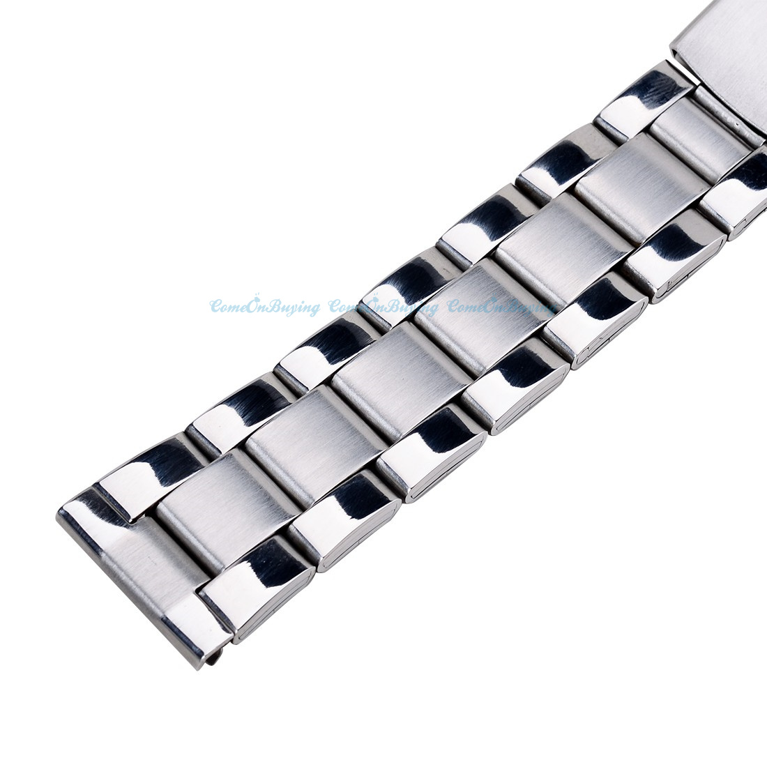 1 pcs unisex 3 styles stainless steel watch band bracelet metal strap clasp ebay. Black Bedroom Furniture Sets. Home Design Ideas