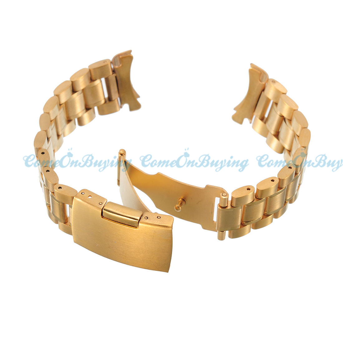 Gold Wrist Bracelet: New Silver Gold Replacement Stainless Steel Watch Band