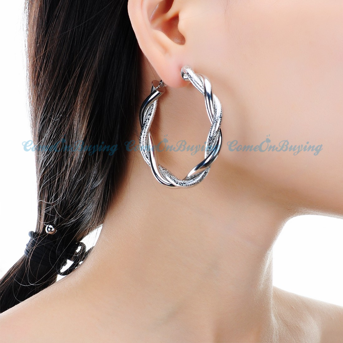 Clip On Earrings Gold Hoop 2 36